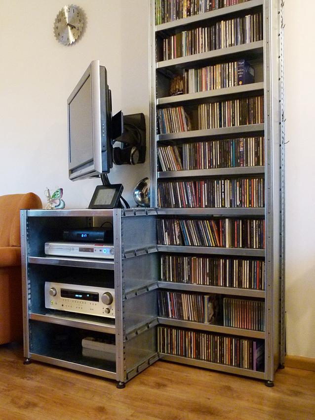 Tv En Audio Kast.Stellingkast Nl Tv Kast Stoere Tv Kast Van Staal